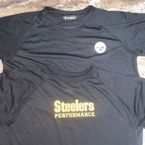 UA boys 2 pack Steelers athletic shirts
